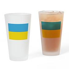 Ukraine World Flag Pint Glass
