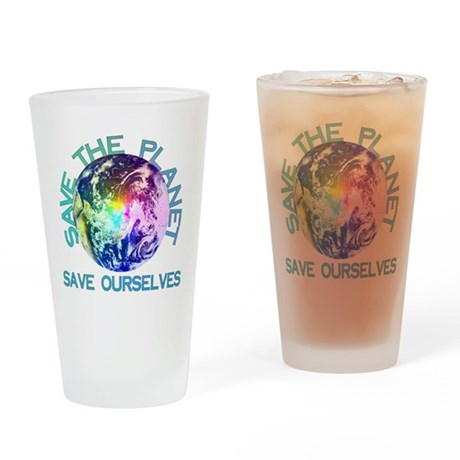 Save The Planet Pint Glass