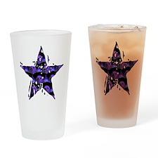 Skull Star Pint Glass