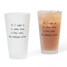 All I Want Pint Glass