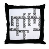 DOKUBO SCRABBLE-STYLE Throw Pillow