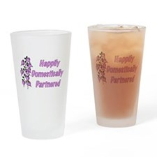 Happily Domestically Partnere Pint Glass