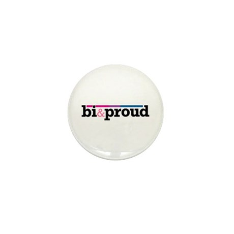 Bi&proud White Mini Button