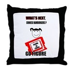 WHAT'S NEXT CHINESE HAMBURGERS? Throw Pillow