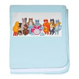 Salsa Cats baby blanket