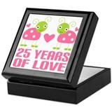 25th Anniversary Gift Love Keepsake Box