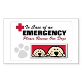 Please Rescue Dogs Rectangle Sticker