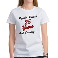 25th Anniversary Gift Married Tee