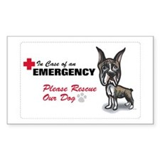 Save My Boxer Rectangle Decal