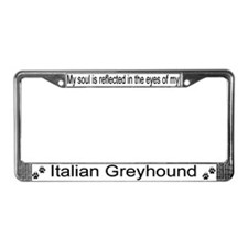 """Italian Greyhound"" License Plate Frame"