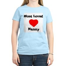 Most Loved Nanny Women's Pink T-Shirt