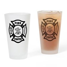 Fire Fighter Drinking Glass