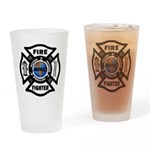 Firefighters Think Green Pint Glass