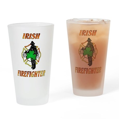 Irish Firefighter Pint Glass