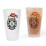 Christmas Firefighter Pint Glass