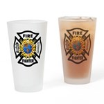 Firefighter Energy Planet Pint Glass