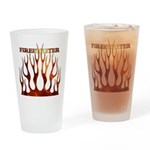 Firefighter Tribal Flames Pint Glass