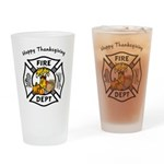 Thanksgiving Firefighter Pint Glass