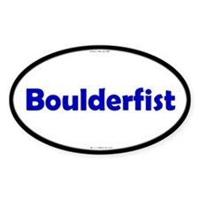 Boulderfist Blue Server Oval Decal