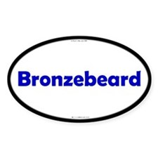 Bronzebeard Blue Server Oval Decal