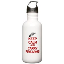 Keep Calm and Carry Firearms Water Bottle
