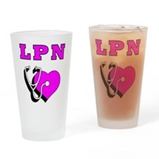 Nurses LPN Care Drinking Glass