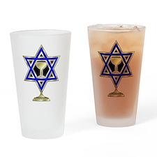 Jewish Star Drinking Glass