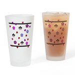 Hearts and Flowers Pint Glass