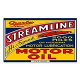 Streamline Motor Oil Bumper Stickers
