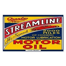 Streamline Motor Oil Decal