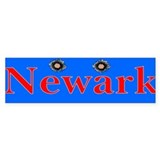 Newark Bullet Holes Bumper Stickers