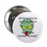 "No Illegal Aliens! 2.25"" Button (100 pack)"