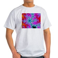 Ash grey T-shirt with fractal