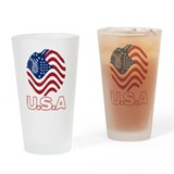 USA world design Pint Glass