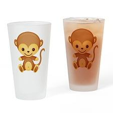 Cute Kawaii Monkey Pint Glass