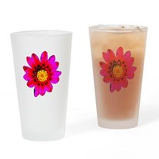 Pink Red Pop art Flower Pint Glass