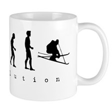 Skiing Evolution Coffee Mug
