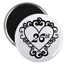 26th Anniversary Love Gift Magnet