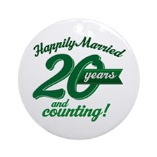 20 Years Anniversary Gift Ornament (Round)
