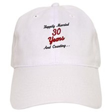 30th Anniversary Gift Married Baseball Cap