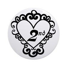 2nd Anniversary Love Gift Ornament (Round)