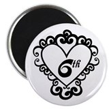 6th Anniversary Love Gift Magnet