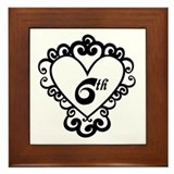 6th Anniversary Love Gift Framed Tile