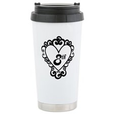 8th Anniversary Love Gift Ceramic Travel Mug