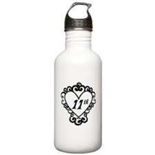 11th Anniversary Love Gift Water Bottle