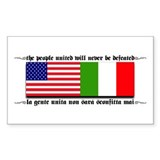 USA - Italy Rectangle Decal