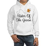 Sister of the Groom Orange Pretty  Hoodie