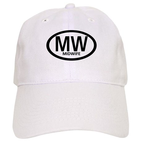 Midwife Black Oval Cap