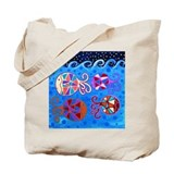 Cute Fish folk Tote Bag