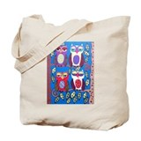 Cute Blue owl art Tote Bag